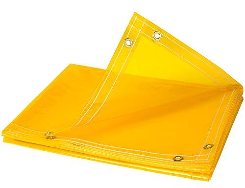 Steiner 334-6X8 ArcView 14 mm Flame Retardant Yellow Tinted Transparent Vinyl Welding Curtain 6 x 8