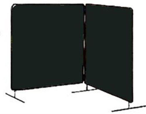 Tillman 6022066 6X6 14mil 2 Panel Green Vinyl Welding Curtain with Frame