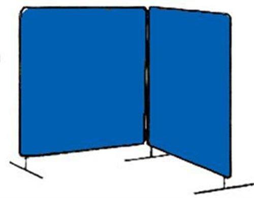 Tillman 6042066 6X6 14mil 2 Panel Blue Vinyl Welding Curtain with Frame