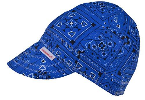 Comeaux Caps Reversible Welding Cap Blue Bandana Size 7 58