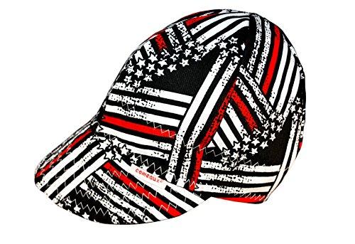 Comeaux Caps Reversible Welding Cap Fireman Flag Size 7 34