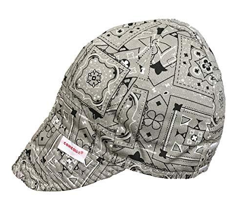 Comeaux Caps Reversible Welding Cap Grey Bandana Size 7 18