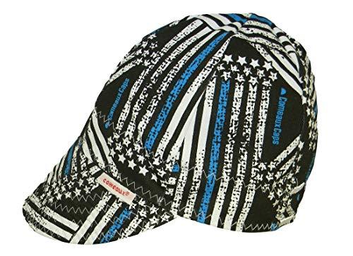 Comeaux Caps Reversible Welding Cap Police Flag Size 7 14