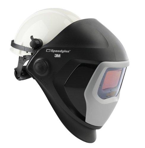 3M Speedglas Welding Helmet 9100 Welding Safety 06-0100-20HHSW with Hard Hat SideWindows and Speedglas Auto-Darkening Filter 9100X Shades 5 8-13