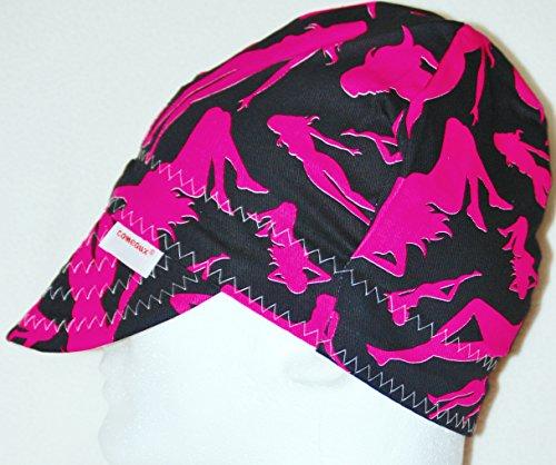 Comeaux Caps Welders Welding Hat Pink Silhoutte 7-78
