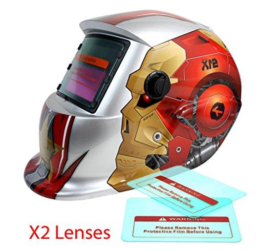 Proelectric Robot 2 Print Professional Auto Darkening Solar Powered Welders Welding Helmet Mask With Grinding Function