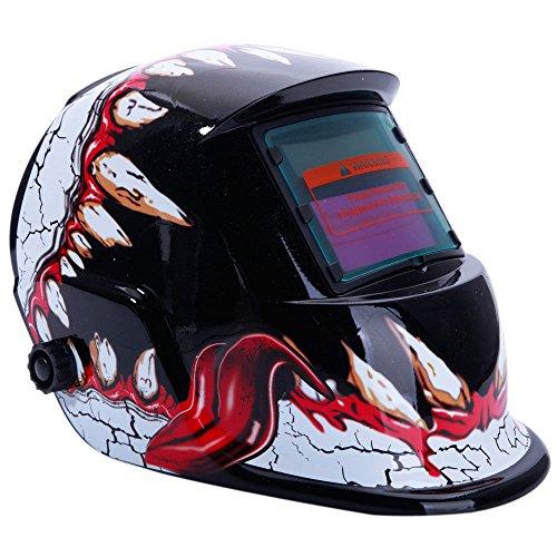 Solar Auto Darkening Welder Welding Helmet ARC TIG MIG Grinding Mask Mouth Devil