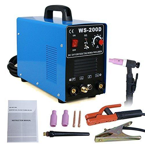 Super Deal TIG DC Inverter ARC MMA Welder Welding Machine 110V&220V 200 Amp Single Phase Blue 400w