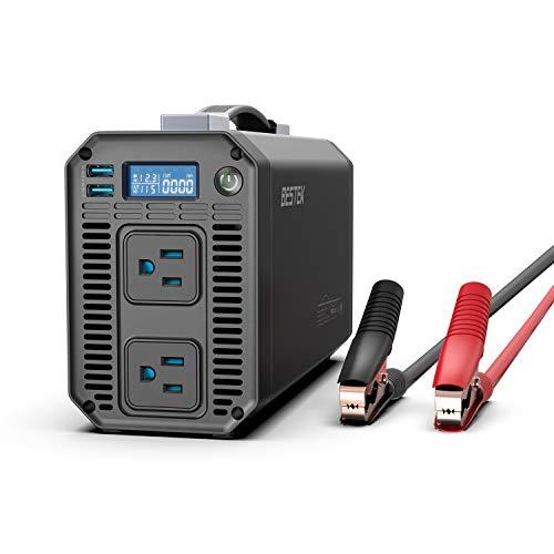 BESTEK 1000W Pure Sine Wave Power Inverter DC 12V to 110V AC Car Inverter with Digital LCD Display 42A Dual USB Charging Ports