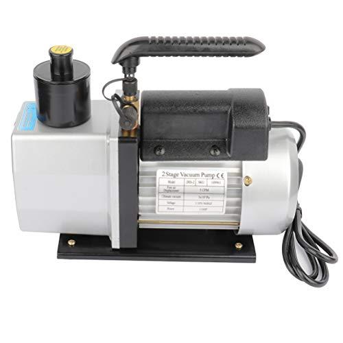 SCITOO 5CFM 12HP Dual Stage Rotary Vane Economy Vacuum Pump Deep Air Refrigerant Conditioning