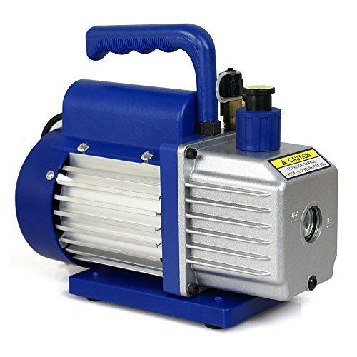 Smartxchoices 4 CFM Electric Rotary Vane Deep Vacuum Pump R410aR134a HVAC Air Refrigerant BlueVP135
