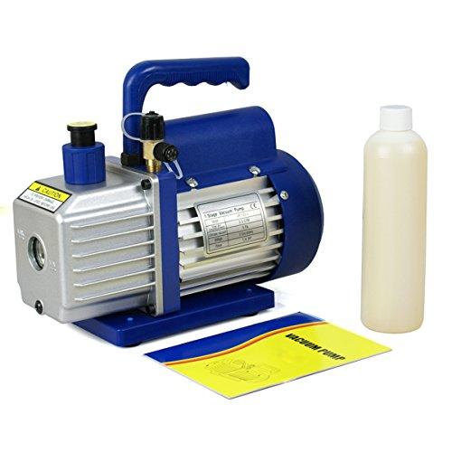F2C 35 CFM 14HP Single-Stage Rotary Vane Vacuum Pump Air Conditioner Refrigeration HVAC Air Tool AC R410a Single Stage