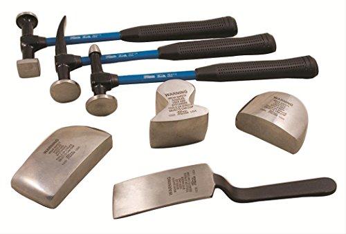 Martin Tools 7 Pc Sheet Metal Fender Body Hammer Dolly Set 647KFG