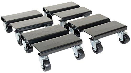 Vestil SDOL-4 Steel Dolly Set 500 lbs Capacity 8 Length x 8 Width x 3-58 Height Deck Pack of 4