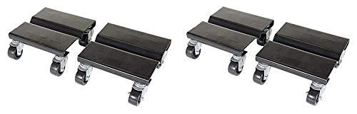 Vestil SDOL-2 Steel Dolly Set 500 lbs Capacity 8 Length x 8 Width x 3-58 Height Deck 2 X Pack of 2