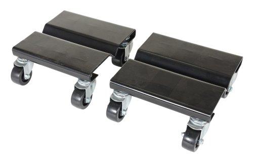 Vestil SDOL-2 Steel Dolly Set 500 lbs Capacity 8 Length x 8 Width x 3-58 Height Deck Pack of 2
