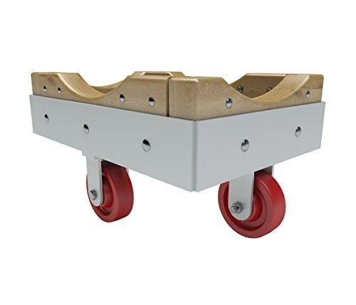 Vestil WoodSteel Dolly - Phenolic Wheels 24X36