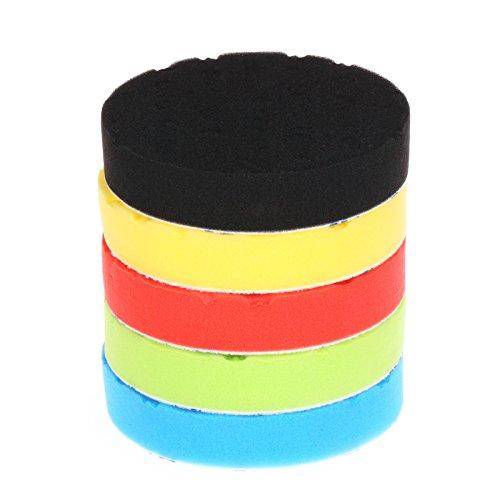 SPTA 5Pcs 7180mm Compound Buffing Sponge Pads Polishing Pads Kit Buffing Pad For Car Buffer Polisher SandingPolishing Waxing