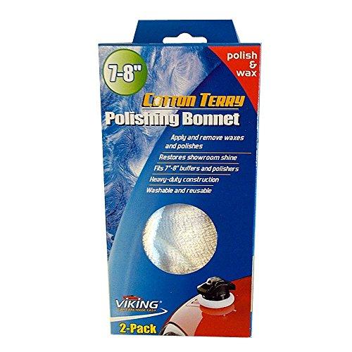 Viking Cotton Terry Polishing Bonnet 7-8 Application Removal Polish