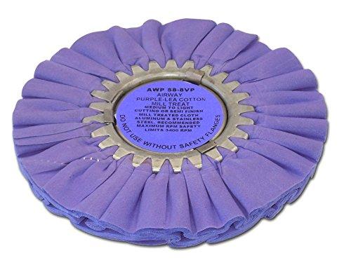 Zephyr AWP 58-8 VP Purple-Lea Airway Cotton Mill Treat Buffing Wheel
