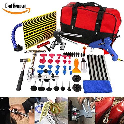 WHDZ Auto Body Paintless Repair Removal Tools Automotive Door Ding Dent Silde Hammer Glue Puller Repair Starter Set Kits For Car Hail Damage And Door Dings Repair