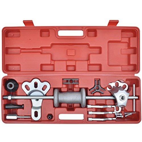 Festnight 16 pcs Slide Hammer Dent Puller Oil Seal Bearing Puller Set for Auto Mechanic Car Truck Tools