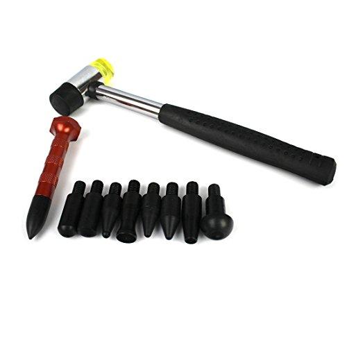 iTECHOR Auto Dent Repair Tool Set Indentation Repair Pen and Hammer - Black
