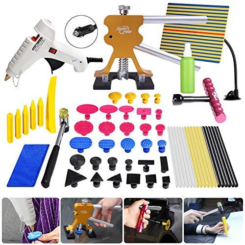 Fly5D 45Pcs Paintless Dent Repair Tools Bridge Glue Puller Auto Body Dent Removal Tools Car Dent Removal Tool Kits
