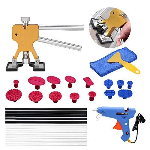 KKmoon 29pcs US Plug Paintless Dent Removal Tool Kit Paintless Dent Repair Tool Dent Lifter Glue Tab Hail Glue Gun Tools