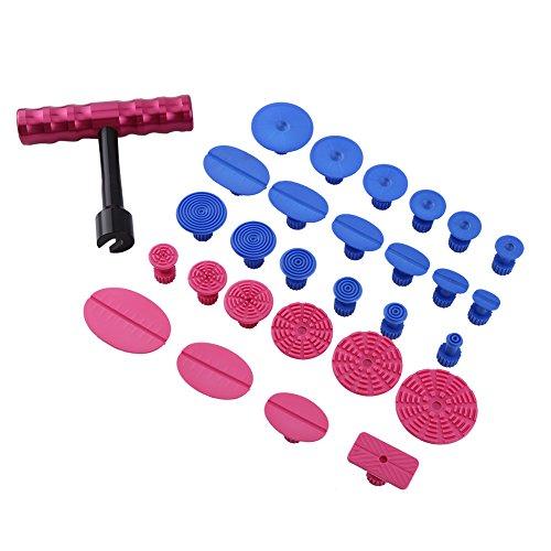 Paintless Dent Repair Tool29pcs Set Paintless Hail Dent Removal Tool Kit T-Bar Puller Slide Hammer Glue Tabs PDR Tools