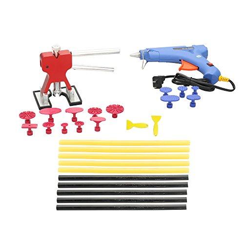 Tickas 29pcs Auto Body Paintless Dent Removal Tools Kit Glue Gun Dent Lifter Bridge Puller Set