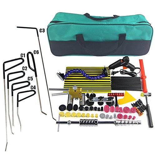 Wcaro Dent Removal Tools Kit Paintless Dent Repair Tools Kit PDR Tool for Car Dent Repair Remover Kit Hail Damage Repair Kit Paintless Dent Removal Tools Dent Puller Kit With PDR Rods Hook 69Pcs
