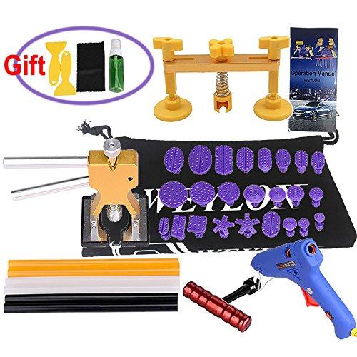 Weylon 36pcs Paintless Dent Repair Kit Hail Removal Dent Puller Lifter Pop a Tools