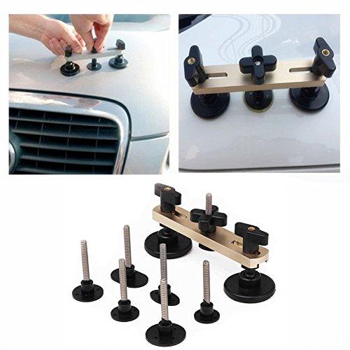 GS 7pcs Car Dent Repair Kit Adjustable Bridge Puller Set Pops A Dent PDR Tools Glue Puller Dent Remover