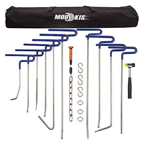 Mookis Dent Removal Rods Set Paintless Dent Repair Tools for Car Dent Remover Puller Hail Damage Repair Kit B2-B11