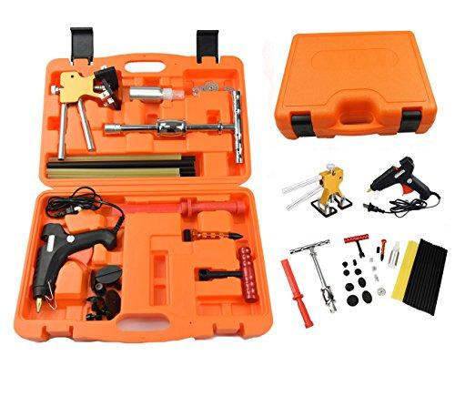 Car Paintless Dent Removal Kits Furuix 37pcs Hail Damage Repair Kit Auto Car Dent Removal Dent Puller Kit Fix Ding PDR Dent Lifter Paintless Hail Repair Tool Kits Automotive Dent Repair Kit