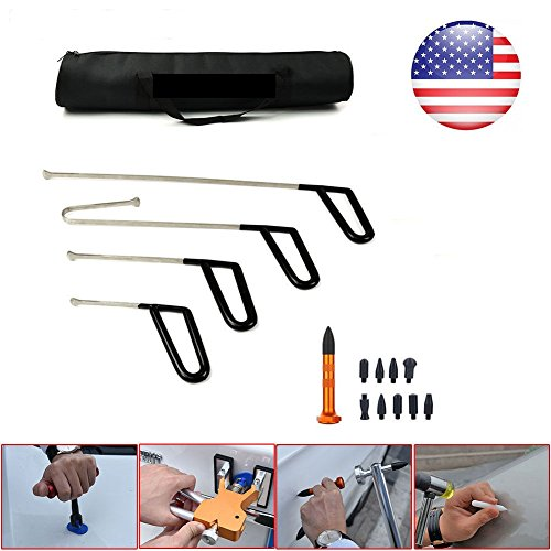 Dent Puller PDR Tools Paintless Dent Repair Tools 4PCS Whale Tails Push Rods Car Ding Removal Kit - Skroutz