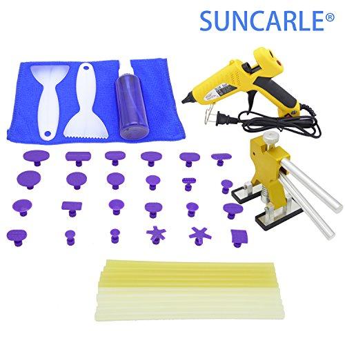 Pdr Tool SUNCARLE 40 Pcs PDR CAR Body Restore Tool Paintless Dent Repair Tools Kit Puller Dent Lifter Puller Tabs Glue Sticks