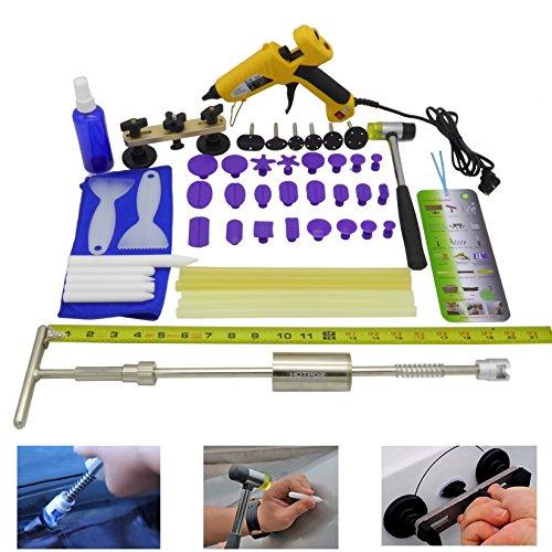 HOTPDR Pdr Tools Auto Dent Puller Bridge Puller Dent Repair Kit Glue Puller Kit Pdr Dent Repair Kit for Dent Repair 45 Pcs