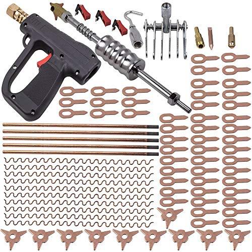 86Pcs Dent Puller Kit Car Body Dent Spot Repair Device Welder Stud Weld Welding Kit Hammer Gun