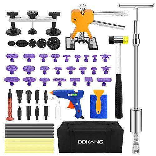 BBKANG Paintless Dent Repair Remover Removal Tool Kit 60pcs Professional Hail Dent Lifter Bridge Puller T Puller Hot Glue Tap Down Kits