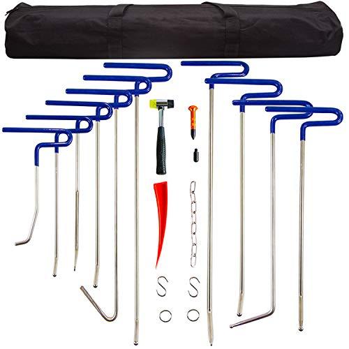 MMPP Dent Removal Rods Set Paintless Dent Repair Tools for Car Dent Remover Puller Hail Damage Repair Kit B2-B11