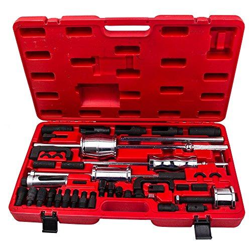 maXpeedingrods 40 Pieces Truck Diesel Injector Extractor Slide Hammer Puller Extractor Complete SetUniversal MASTER Kit