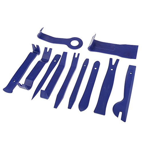 MagiDeal 11pcs Blue Car Audio Trim Door Panel Dashboard Clip Removal Installer Pry Tool Kit Auto Hand Tool