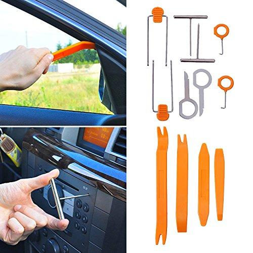 Super PDR 12Pcs Auto Door Clip Panel Trim Removal Tool Kits for Car Dash Radio Audio Installer Pry Tool
