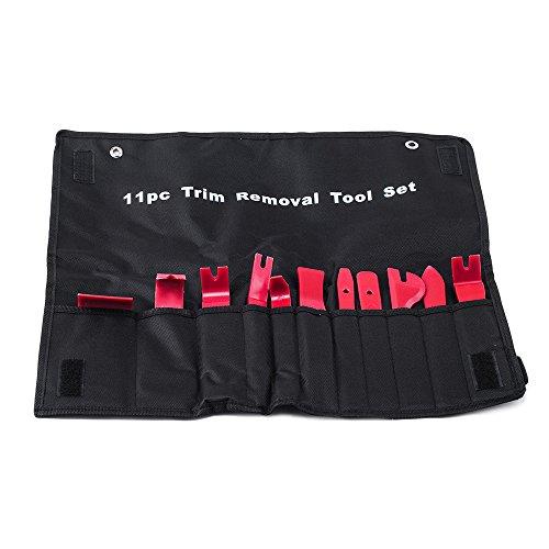 aokur 11PC Car Upholstery Removal Molding Kits Auto Interior Exterior Trim Door Panel Dash Windows Trim Removal Installer Pry Repair Tool