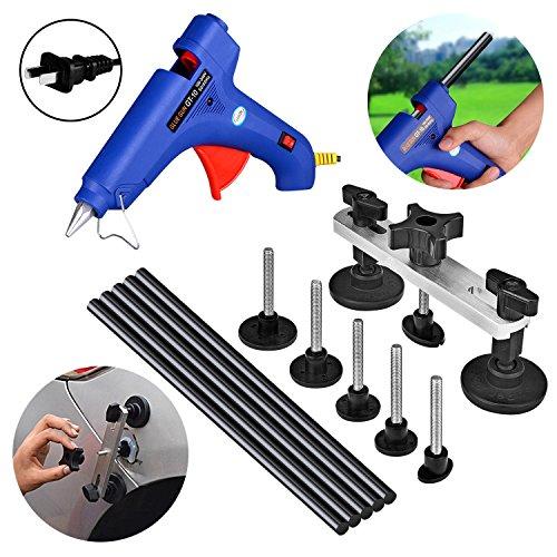 AUTOPDR 7pcs DIY Puller Bridge Car Body Dent Repair Tool Kit Glue Gun Stick