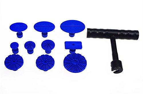 Car Body Dent Paintless Repair Tools Puller Lifter BlackT-Bar Hand w10 Pcs Puller Tabs