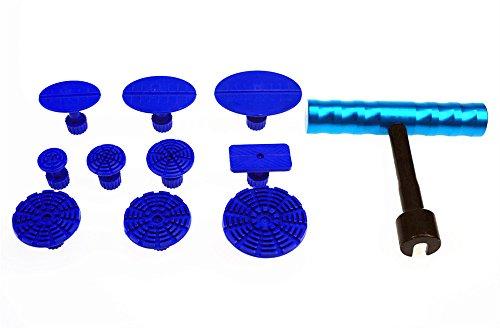 Car Body Dent Paintless Repair Tools Puller Lifter T-Bar Hand w10 Pcs Puller Tabs