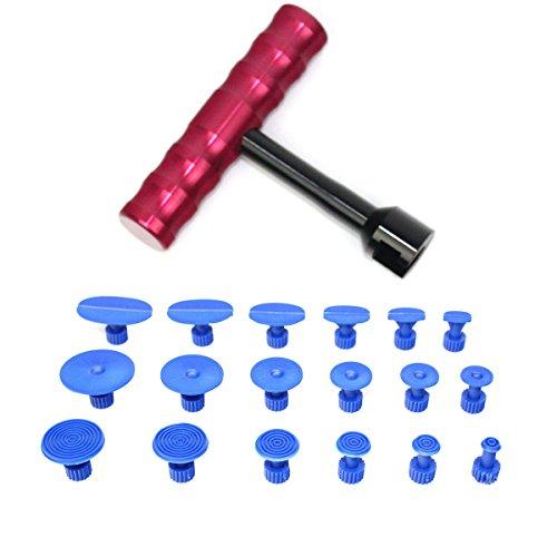 WINOMO Dent Repair Tools Auto Car Body Dent Remover With T-handle Dent Puller 18PCS
